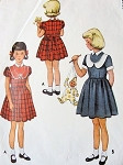 1950s GIRLS ADORABLE DRESS PATTERN McCALL PATTERNS 8401