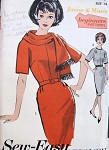 1960s MAD MEN Slim Dress and Scarf BEGINNERS PATTERN Sew Easy ADVANCE 3014 Two Style Versions Bust 36 Vintage Sewing Pattern