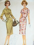 1960 SHEATH DRESS, SHORTIE JACKET PATTERN FIGURE SHOW OFF SLIM DESIGN, FITTED JACKET MAD MEN STYLEMcCALLS 5469
