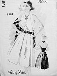 1960s HARVEY BERIN HALTER DRESS LOVELY SUMMER STYLE, SIDE SWEPT BODICE, INVERTED PLEATED SKIRT, VERY MARILYN SPADEA AMERICAN DESIGNER 1381
