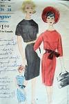 1960s STYLISH SLIM DRESS PATTERN VOGUE 5402