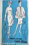 1960S DESIGNER SILM DRESS, CAPE PATTERN