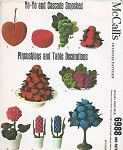 VINTAGE  McCALLS 6988 SMOCKING PATTERN YOYO CASCADE SMOCKED PINCUSHIONS TABLE DECORATIONS FRUIT FLOWERS