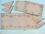 1940s SIMPLICITY PATTERN 7310  CUTWORK TRANSFERS 9 PC LUNCHEON SET