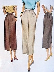 1940s Slim Skirt Pattern McCall 7836 Classy Style Lovely Details Waist 28 Vintage Sewing Pattern