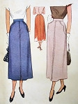 1940S MCCALL 7642 Vintage sewing Pattern SLIM SKIRT  Classic Design