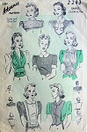 1930s Advance 2243 Collar and Gilet Jabot Pattern 6 Great Styles