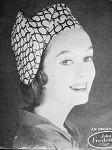 1950s VOGUE 9443 HAT PATTERN PERKY TUBULAR EASY TO MAKE BY DESIGNER JOHN FREDRICS Vintage Sewing Pattern