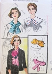 1950s Collars and Vestee Pattern McCALLS 2124 Lovely Styles Striking Surplice Vestee One Size Vintage Sewing Pattern