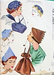 1950s Flirty Hats Bags Purses Pattern McCALLS 1840 Three Perky Hat Styles Two Purse Bags One Size Vintage Sewing Pattern FACTORY FOLDED