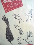 1950s JOHN FREDERICK GLOVES PATTERN 4 BEAUTIFUL STYLES, EVENING SLEEVE GLOVES ABOVE THE ELBOW, WIDE CUFF GAUNTLET, CRUSHED WRIST, DRESSY SHORTIE, WOMANS DAY PATTERNS 3264