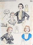 1950s Collars Inserts Vestees Pattern Butterick  8412  Four Styles Dress Up A Suit Quick n Easy Vintage Sewing Pattern
