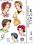 1950s Hats and Bag Purse Pattern McCall 1538 Vintage Sewing Pattern Three Stylish Flirty Styles Head Size 22 Inches FACTORY FOLDED UNCUT