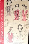 1940s War Time Dickeys Suit Inserts Pattern Hollywood 1085 Includes 5 Styles and A Crochet Pattern For View 5 One Size Vintage Sewing Pattern