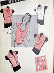 1940s DICKEYS Inserts Gilets Pattern BUTTERICK 3249 Five Distinctive Styles Perfect For Under Suits Day or Evening Vintage Sewing Pattern