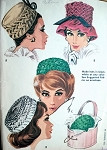 1960s Hats Millinery Pattern McCalls 6515 Smocked Pillbox Hats Several Styles Smocking Vintage Sewing Pattern