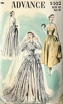 1950s BEAUTIFUL WEDDING DRESS BRIDAL GOWN PATTERN  DREAMY STYLE ADVANCE 5502