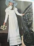 1960s EDWARDIAN STYLE WEDDING DRESS BRIDAL GOWN PATTERN VOGUE  SPECIAL DESIGN BRIDAL 2316