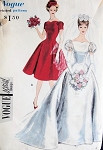 1950s  PRINCESS STYLE BRIDAL GOWN WEDDING DRESS PATTERN LOVELY STYLE VOGUE SPECIAL DESIGN  4068