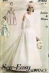 1960s BRIDAL GOWN WEDDING DRESS, JACKET PATTERN ADVANCE 3150