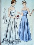 1950sEVENING SLIPS PATTERN PRINCESS TOP  VOGUE 6663