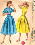 50s PERKY Housecoat Robe Brunch Coat Pattern McCALLS 3416 Easy To Sew House Dress Bust 32 Vintage Sewing Pattern