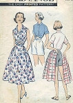 1950s WEEKEND WARDROBE BEACH PATTERN SHIRT, SHORTS, WRAP SKIRT ADVANCE 8610