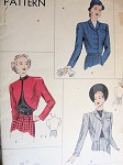 1940s FABULOUS BOLERO JACKETS PATTERN 3 UNIQUE STYLES VOGUE 6017 Bust 30