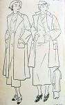 1930s New York Pattern 544 Swagger Coats Wonderful Art Deco Design 2 Lengths Bust 38