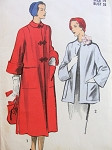 1950s  CLASSY Coat Swing Back Jacket Pattern ADVANCE 5460 Two Beautiful Styles Bust  32 Vintage Sewing Pattern FACTORY FOLDED