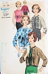 1960  JACKET, BLOUSE PATTERN 3 LENGTH JACKET, SLEEVELESS SHELL BLOUSE VOGUE 5150