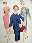 1950s Classy Slim Dress and Jacket Pattern VOGUE COUTURIER DESIGN 183 Daytime or After 5 Bust 32 Vintage Sewing Pattern