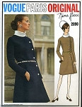 1960S NINA RICCI Side Closing Wrap Dress Pattern VOGUE PATTERN 2090 Stunning Design  Bust 34 Vintage Sewing Pattern FACTORY FOLDED + Sew In Label
