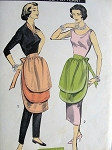 RESERVED1950s UNIQUE TRIPLE TIERED APRON PATTERN 3 LAYER STYLE PERFECT  HOSTESS HALF APRONS ADVANCE PATTERNS 8467