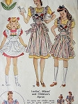 1940s SWEET APRONS PATTERN + TRANSFERS McCALL 865