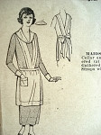 RARE ANTIQUE 1907 MAIDs APRON, COLLAR, CUFFS PATTERN PICTORIAL REVIEW 1454