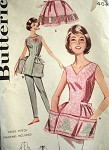 1960s PRETTY Cross Stitch Gingham APRONS Pattern BUTTERICK 9982 Choice of Cobbler or Half Apron Medium Size Bust 34-36 Vintage Sewing Pattern