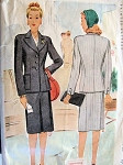 1940s CLASSIC WAR TIME SUIT PATTERN WW II STYLISH DESIGN McCALL 5390