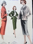 1950s  SLIM SKIRTED SUIT PATTERN BUTTERICK 7901
