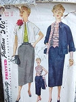 1950s 3 PC SUIT PATTERN  WESKIT-BLOUSE SIMPLICITY 4562