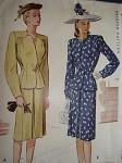 1940s SUIT PATTERN ELEGANT DESIGN McCALL 6481