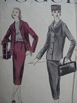 1950s SHORT BOX JACKET SUIT PATTERN VOGUE 8967