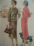 1950s SUIT PATTERN GREAT STYLE  McCALLS 3542