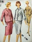 1960S VINTAGE SIMPLICITY SUIT PATTERN 5378
