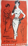 1960s Sizzling Cocktail Evening Dress Pattern Figure Flattering Slim Style With Shortie Jacket A Gothe Original Proinent Designer 372
