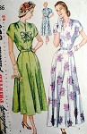 1940s EVENING DRESS PATTERN SIMPLICITY 2486