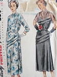 1940S VINTAGE EVENING DRESS SIMPLICITY PATTERN 3103