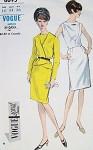 1960s SLIM DRESS, JACKET PATTERN  STUNNING STYLE VOGUE SPECIAL DESIGN 6695