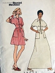 1960s MOD DANIEL HECHTER MIDRIFF DRESS PATTERN BUTTERICK 3104 PATTERNS