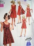 1960s SIMPLICITY 8125 WALK AWAY REVERSIBLE DRESS PATTERN FAB STYLE!